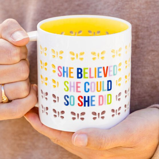 Soleil Home™ Porcelain Mug - She Believed She Could