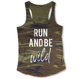 Running Camouflage Racerback Tank Top - Run And Be Wild