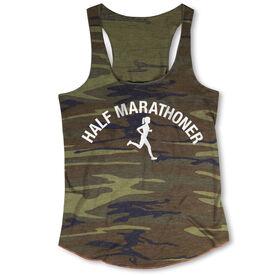 Running Camouflage Racerback Tank Top - Half Marathoner Girl