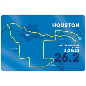 "Running 18"" X 12"" Wall Art - Houston 26.2 Route"