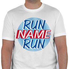 Men's Running Customized Short Sleeve Tech Tee Run Name Run