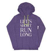 Women's Running Lightweight Hoodie - Life's Short Run Long (Text)