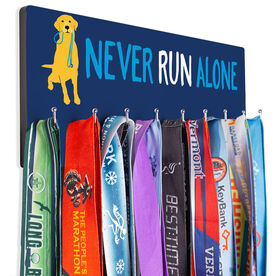 Running Hooked on Medals Hanger - Never Run Alone