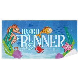 Running Premium Beach Towel - Beach Runner