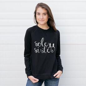 Running Raglan Crew Neck Sweatshirt - Sole Sister Script
