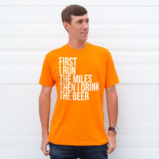 Running Short Sleeve T-Shirt - Then I Drink The Beer