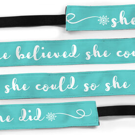Running Juliband No-Slip Headband - She Believed She Could So She Did