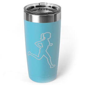 Running 20oz. Double Insulated Tumbler - Female Runner Outline