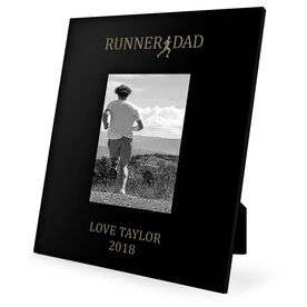 Running Engraved Picture Frame - Runner Dad
