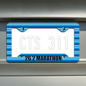 Marathon...Running License Plate Holder