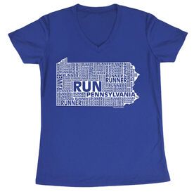 Women's Running Short Sleeve Tech Tee Pennsylvania State Runner