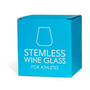 Triathlon Stemless Wine Glass Swim Bike Run Checklist
