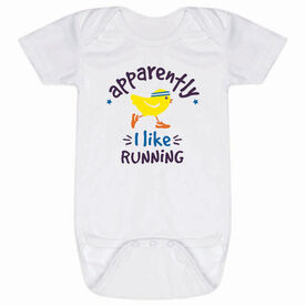 Running Baby One-Piece - Apparently, I Like Running