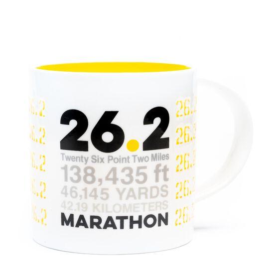 Soleil Home™ Running Porcelain Mug - 26.2 Math Miles