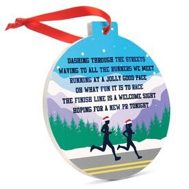 Running Round Ceramic Ornament - Jingle All the Way