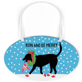 Running Oval Sign - Run And Be Merry