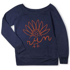 Running Fleece Wide Neck Sweatshirt - Turkey Run