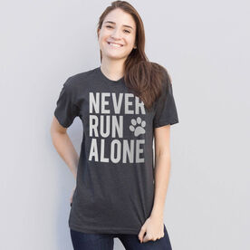 Running Short Sleeve T-Shirt - Never Run Alone (Bold)