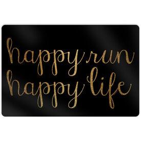 "Running 18"" X 12"" Aluminum Room Sign - Happy Run Happy Life"