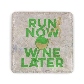 Running Stone Coaster Run Now Wine Later