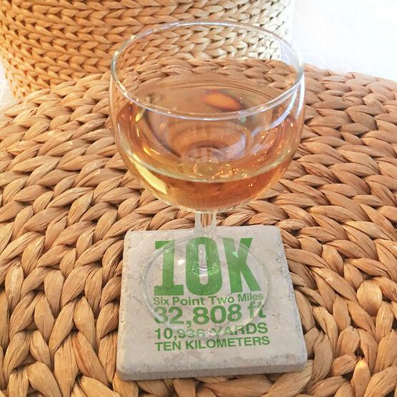Running Stone Coaster - 10K Math Miles