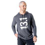 Men's Running Lightweight Hoodie - 13.1 Half Marathon Vertical