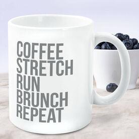 Running Coffee Mug - Coffee Stretch Run Brunch Repeat