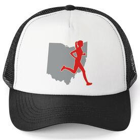 Running Trucker Hat - Ohio Female Runner