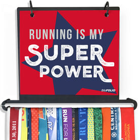 BibFOLIO Plus Race Bib and Medal Display Running Is My Superpower