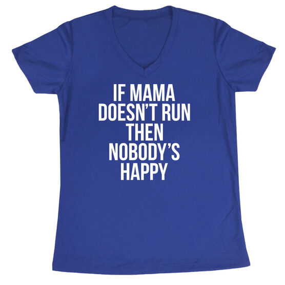 Women's Short Sleeve Tech Tee - If Mama Doesn't Run