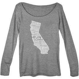 Women's Scoop Neck Long Sleeve Runners Tee California State Runner