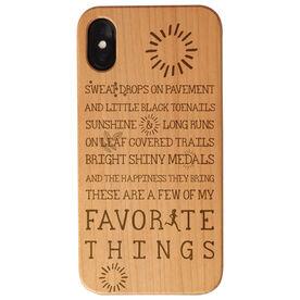 Running Engraved Wood IPhone® Case - Runner's Favorite Things