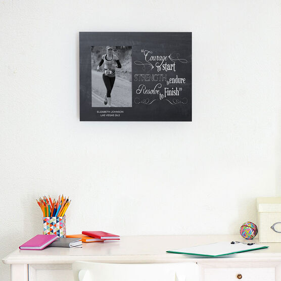 Running Photo Frame - Chalkboard Courage To Start
