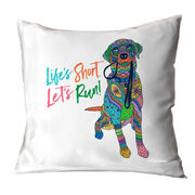 Running Decorative Pillow - Life's Short Lets Run