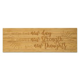 """Running 12.5"""" X 4"""" Engraved Bamboo Removable Wall Tile - With The New Day"""