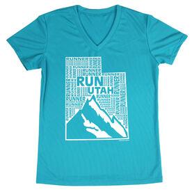 Women's Running Short Sleeve Tech Tee Utah State Runner