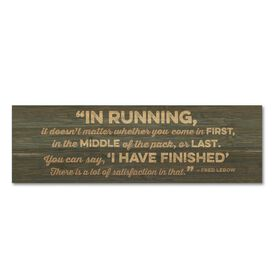 """Running 12.5"""" X 4"""" Printed Bamboo Removable Wall Tile - I Have Finished"""