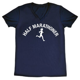 Women's Running Short Sleeve Tech Tee - Half Marathoner Girl