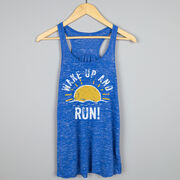 Flowy Racerback Tank Top - Wake Up And Run