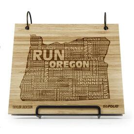Engraved Bamboo Wood BibFOLIO Oregon State Runner