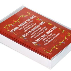 Jingle Run Greeting Card - Box Set of 12