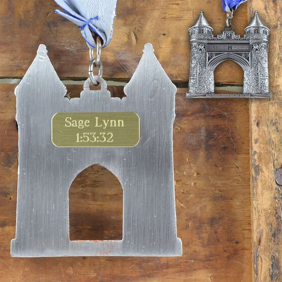 Medium Custom RaceSTATS Engraved Medal Plate