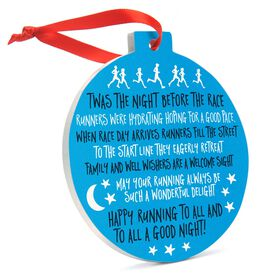 Running Round Ceramic Ornament - Twas The Night Before The Race