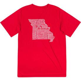 Men's Running Short Sleeve Tech Tee - Missouri State Runner