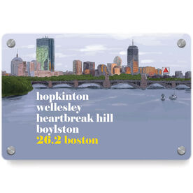 Running Metal Wall Art Panel - Boston Sketch (Mantra)