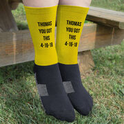Printed Mid-Calf Socks - Personalized Text