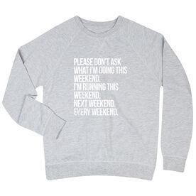Running Raglan Crew Neck Sweatshirt - All Weekend Running