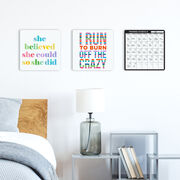 """Running 12"""" X 12"""" Removable Wall Tile - Dry Erase Training Calendar"""