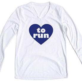 Women's Running Long Sleeve Tech Tee Heart To Run
