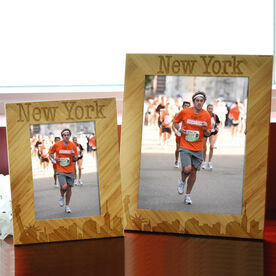 Bamboo Engraved Picture Frame New York Skyline